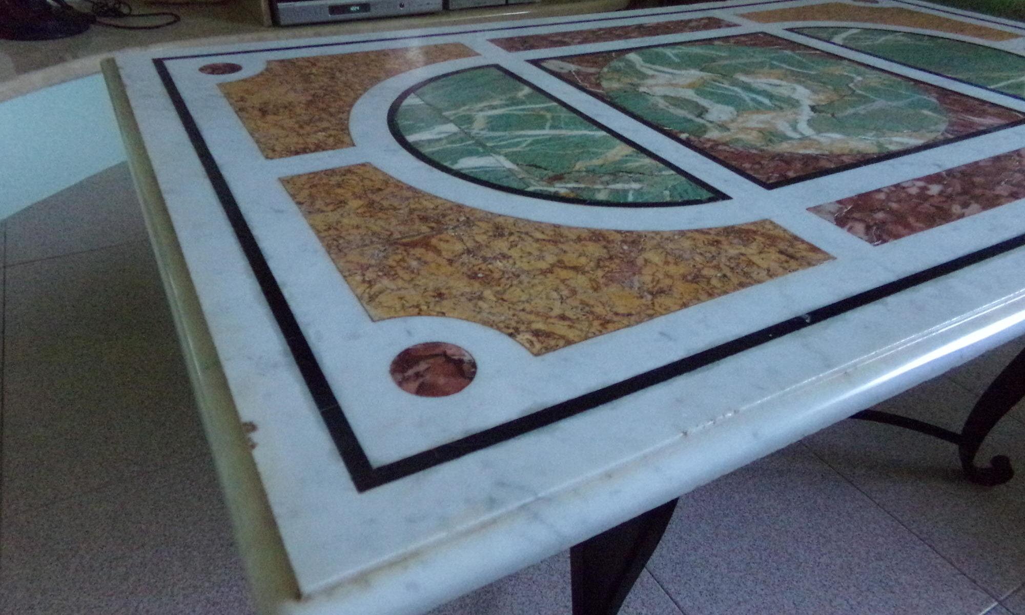 Tavolini Di Marmo Trastevere : Tavolo marmo intarsiato fabio franceschini marmi d autore